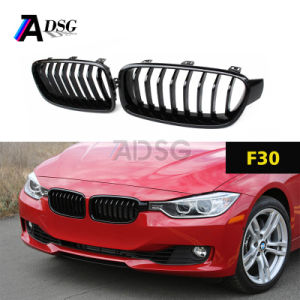 Single Slat Gloss Black Front Grille For Bmw 3 Series F30