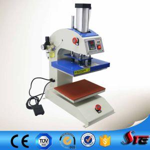 china swing head pneumatic double station logo printing machine