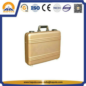 Middle Golden Aluminum Attache Case with Pockets (HL-5205) pictures & photos