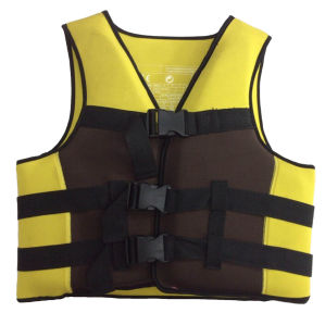 Neoprene Life Jacket with Polyester (HX-V0029) pictures & photos