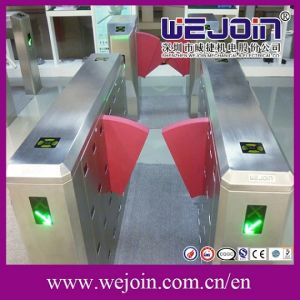 CE Approved Swing Gate Turnstile, Pedestrian Retractable Optical Flap Barrier Wing Barrier Turnstile pictures & photos