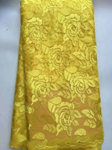 3 Yard Whole Gold Beaded Lace Embroider, Polyester Lace