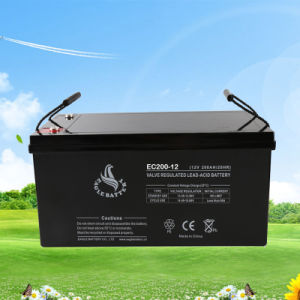 12V 200ah Rechargeable Sealed Lead Acid Battery for Solar