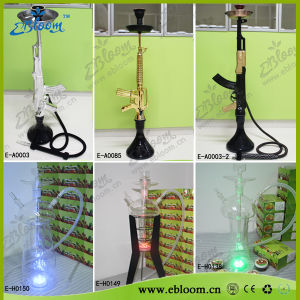 Hand Blown Glass on Glass Hookahs Nargile with LED Light
