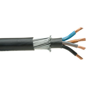 0.6/1kv Type Mv PVC/Swa/PVC 2.5mm 4 Core Copper Power Cable with Armored pictures & photos