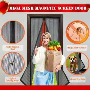 2018 Magnetic Door Mosquito Net Magic Mesh Screen Door