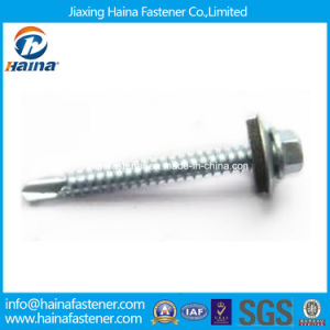 DIN7504-K Hex Washer Head Self-Drilling Screws with EPDM Washer pictures & photos