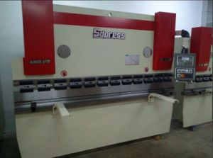 Wc67k-100t/4000 CNC Hydraulic Steel Plate Bending Machine with SGS Certificate