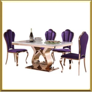 Rainbow Rose Gold Dining Room Table And Chair Set