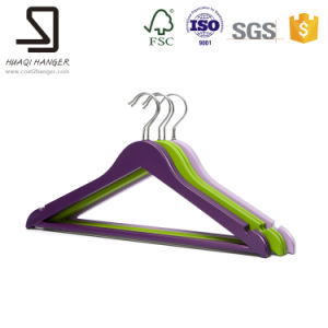 Plastic Hanger for Supermarket, Plastic Curved Clothes Hanger pictures & photos