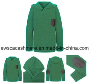Men′s Green Color Pure Cashmere Sweater
