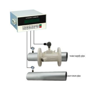 High Accuracy Pipe Type Panel Mount Ultrasonic Heat Meter with PT100 Transducer