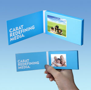 Innovative Video Business Card with 2.4inch Screen, Customized Printing pictures & photos