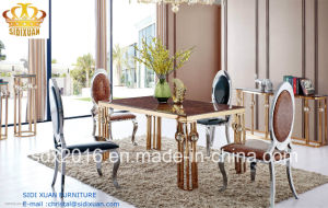 Living Room Furniture / Dining Table / Dining Chair / Home Furniture / Glass Table / Modern Chair / Hotel Chair / Banquet Chair Sj812 + Cy012 pictures & photos