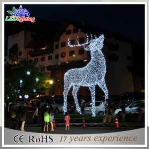 waterproof outdoor square christmas white reindeer lights