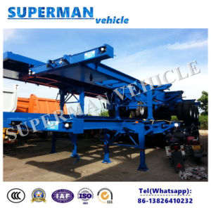 Tri Axle Airbag Suspension Container Frame Semi Truck Trailer pictures & photos