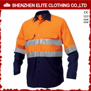 Custom 3m Reflective Cotton Drill Hi Vis Work Shirt pictures & photos