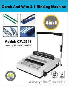 China A4 Size Comb and Wire 3: 1 2-in-1 Binding Machine