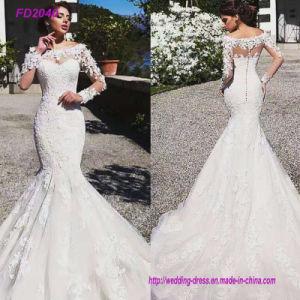 China New Long Sleeves Boat Neckline Sheath Lace Mermaid Wedding Dresses China Wedding Dress And Bridal Dress Price,Semi Formal Modern Wedding Guest Formal Dress For Men