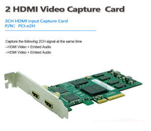 Dual HDMI Video Conference Capture Card 1080P/60 Vmix / Xsplit / Vlc /  Virtualdub / Vidblaster / Obs Live Streaming Game Video Webcasting  Recording
