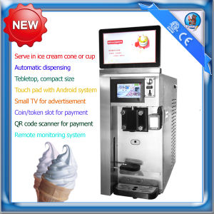 Table top single flavor automatic vending ice cream machine with remote monitoring system pictures & photos