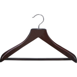 Hotel Guest Room Wooden Female Hanger with Silver Clips pictures & photos