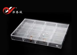 12 Grids Rectangle Bracelet Display Plastic Box with Square Corner pictures & photos