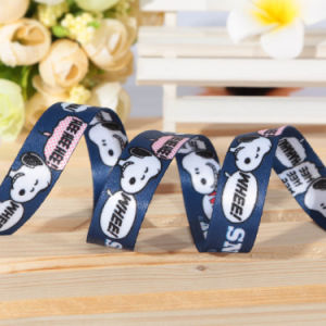 Dye Polyester Sublimation Sports Ribbon with Cartoon Printed