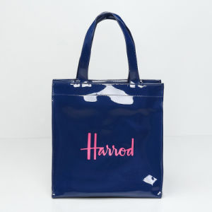 Small Size Waterproof PVC Blue Shopping Bag (A0122)