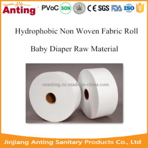 SMMS Hydrophobic Nonwoven Fabric Legcuff Raw Material for Baby Diaper pictures & photos