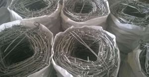 PVC Coated Barbed Wire 200-500m pictures & photos