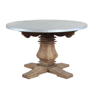 China Zinc Metal Covered Round Outdoor Dining Table China Zinc