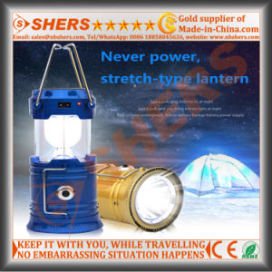 Solar LED Camping Lantern with 1W LED Flashlight, USB (SH-1995A)