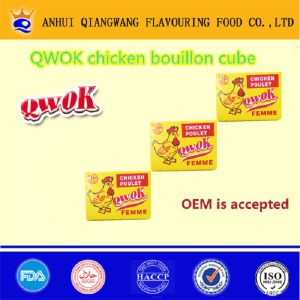 Qwok Chicken Poulet Bouillon Cube Chicken Seasoning Cube Chicken Stock Cube (001)