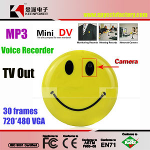 Smile Face Camera Mini Voice Recorder with MP3 & TV out pictures & photos