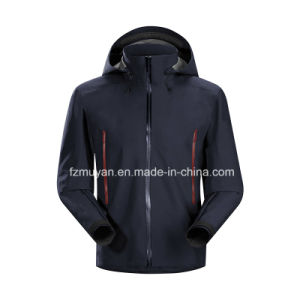 Soft-Shell Hooded Long-Sleeved Waterproof Jacket