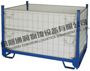Wire Metal Storage Cage Container Swk8001 pictures & photos