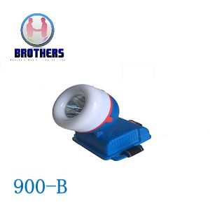 Blue 3AA Outdoor Plastic LED Headlamp pictures & photos