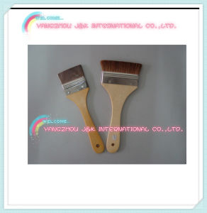 Wooden Handle Black Bristle Paint Tools