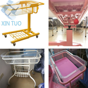Hospital Baby Care Equipments Mobile Bassinet Trolley pictures & photos