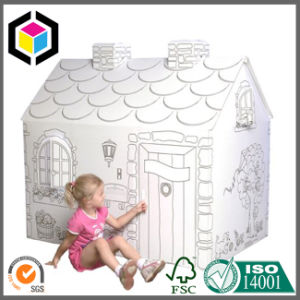 Indoor Paintable Corrugated Cardboard Paper Playhouse Box for Kids
