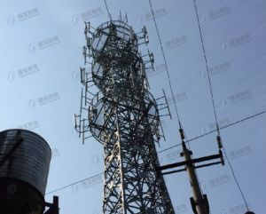 HDG Tubular Lattice Tower with Mast