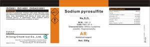 CAS No.: 7681-57-4 Sodium Pyrosulfite 96% Ar Grade pictures & photos