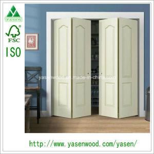 China 4 Panel Bifold Large Wood Veneer Door Folding Door - China PVC ...