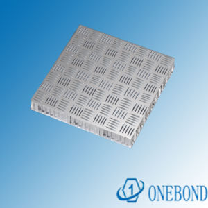 Onebond Embossed Aluminium Honeycomb Panel pictures & photos
