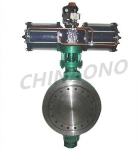 Cast Steel Pneumatic Wafer Type Butterfly Valve pictures & photos