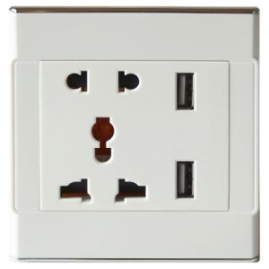 Smart USB Wall Socket Plate with CE Certificate
