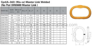 Cpd (A-343) (WA-W) Welded Master Link pictures & photos