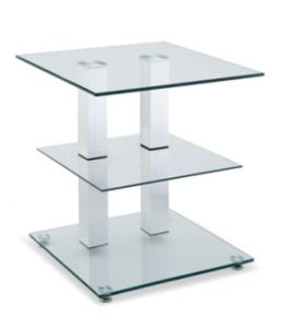 Movable Glass Corner Storage Table