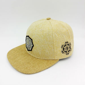 Wholesale Custom Fashion Straw Woven Badge Hip-Hop Cap (LP002) pictures & photos